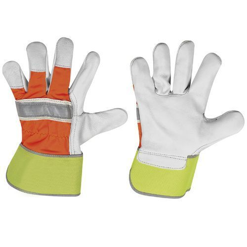 "Vollleder-Handschuh ""Winter HI-VIS"""